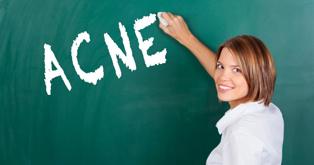 acne on blackboard