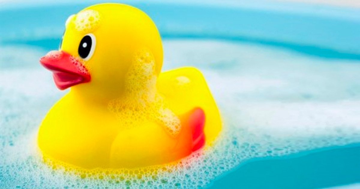 rubber duck in bath